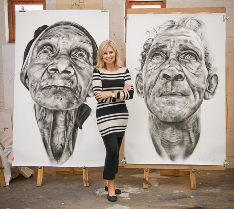 Marie with her work